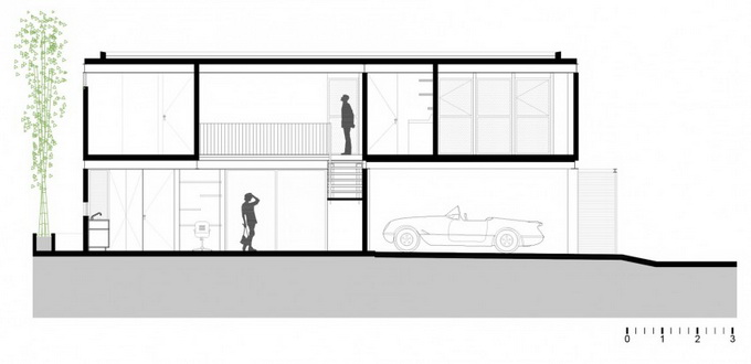 gray brick house with stone garden (6)