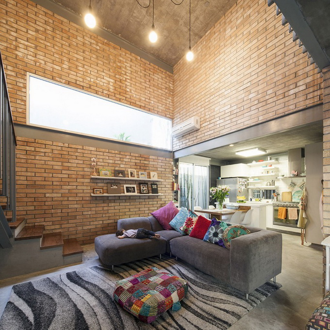 gray brick house with stone garden (9)