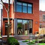 แบบบ้านทาวน์เฮาส์สไตล์โมเดิร์น โดดเด่นที่รูปทรงและสีสัน ความทันสมัยที่พร้อมสำหรับชีวิตคนเมือง