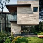 บ้านไม้สไตล์โมเดิร์น ผสมผสานกับคอนกรีตอย่างลงตัว กลมกลืนไปกับธรรมชาติรอบๆ