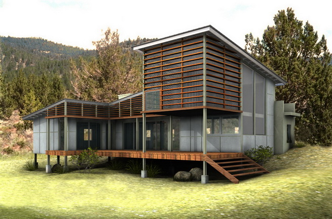modern-green-house in forest (1)