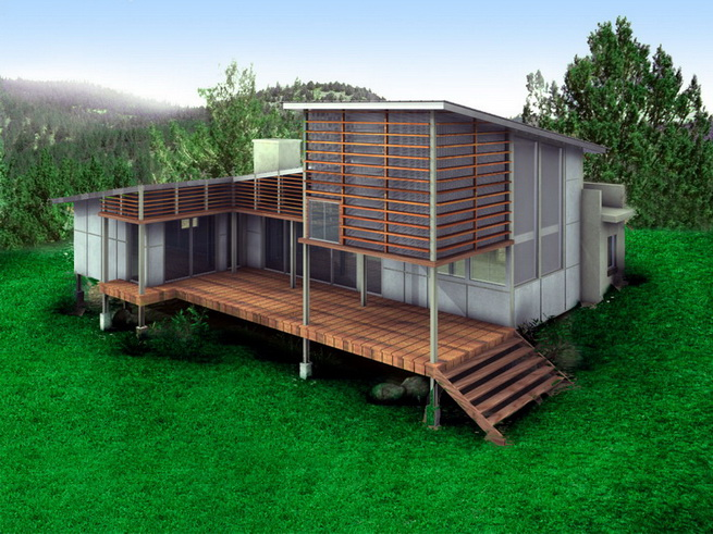 modern-green-house in forest (4)