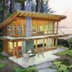 แบบบ้านแนวโมเดิร์น ออกแบบอย่างกลมกลืนกับบรรยากาศธรรมชาติ
