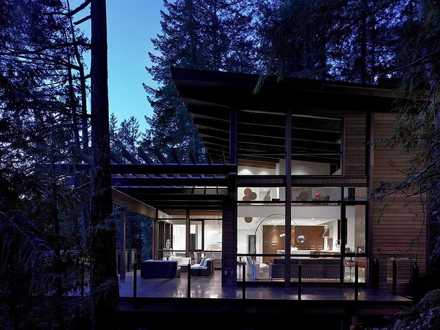 waterfront wooden house in forest (1)