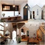 บ้านสองชั้น หน้าแคบแบบบ้านญี่ปุ่น ตกแต่งภายในด้วยไอเดียงานไม้สุดบรรเจิด