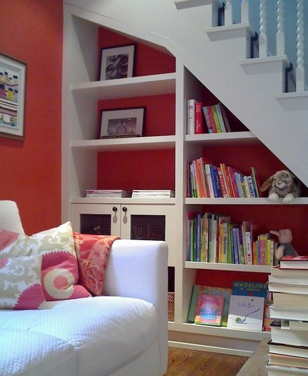 40 under stairs storage space and shelf ideas (28)