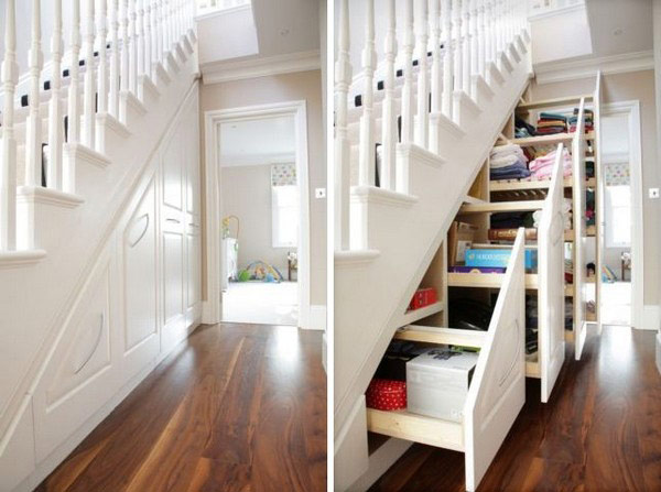 40 under stairs storage space and shelf ideas (29)