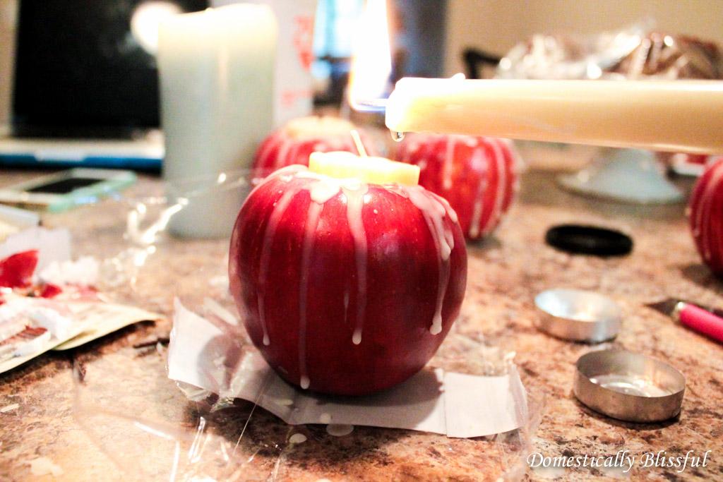 DIY apple candle (6)