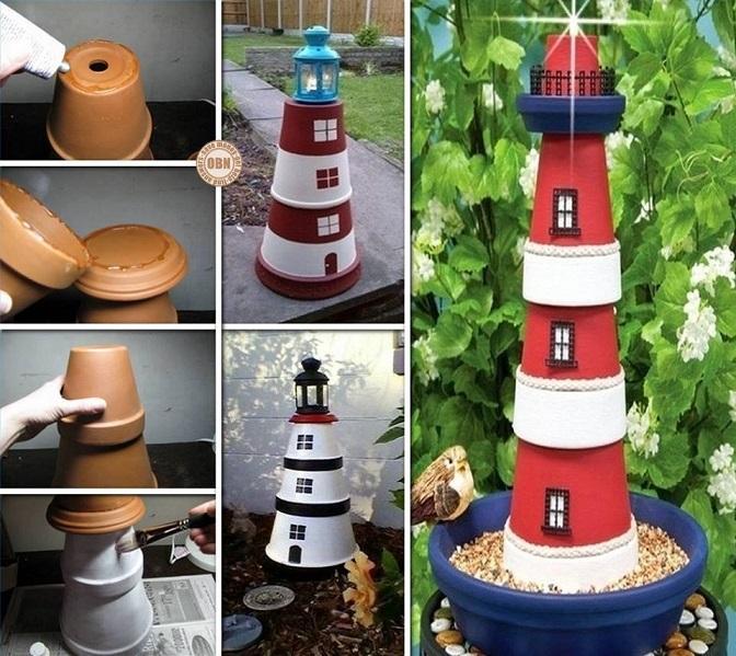 diy claypot lighthouse (1)