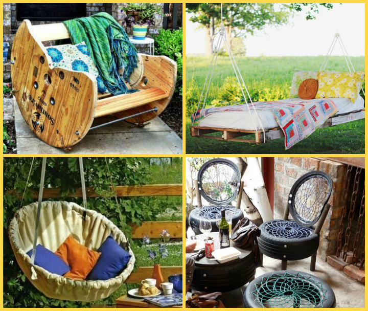 22 diy - Garden furniture ideas fun good taste ...