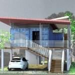 บ้านอีโคสำหรับ 'ผู้สูงอายุ' สร้างจากตู้คอนเทนเนอร์ แข็งแรงทนทานต่อพายุมรสุม