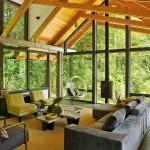บ้านไม้แนวโมเดิร์น เน้นความโปร่งโล่งที่ภายใน พร้อมบรรยากาศแบบชนบทอันแสนอบอุ่น
