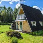 บ้านพักผ่อนขนาดย่อม โดดเด่นที่รูปทรงหลังคา มาพร้อมความอบอุ่นและเป็นกันเอง