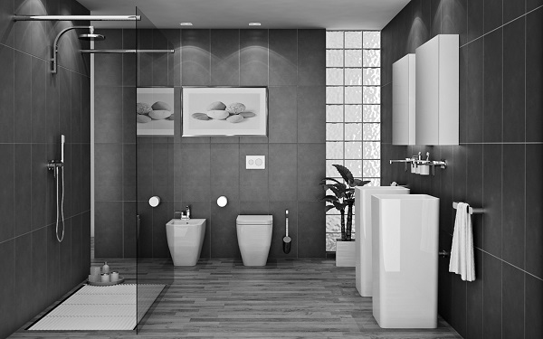 superb-pretty-bathroom-ideas-Eclectic-Style-Gorgeous-decorating-ideas-for-bathrooms-Black-White