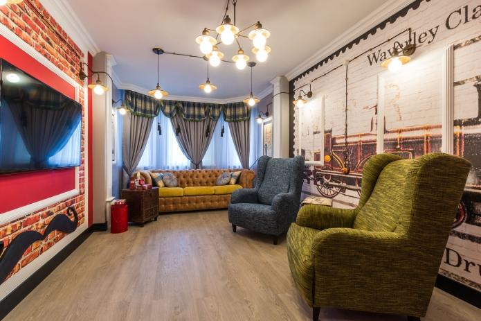 17 sq mts English street  living room interior design (2)