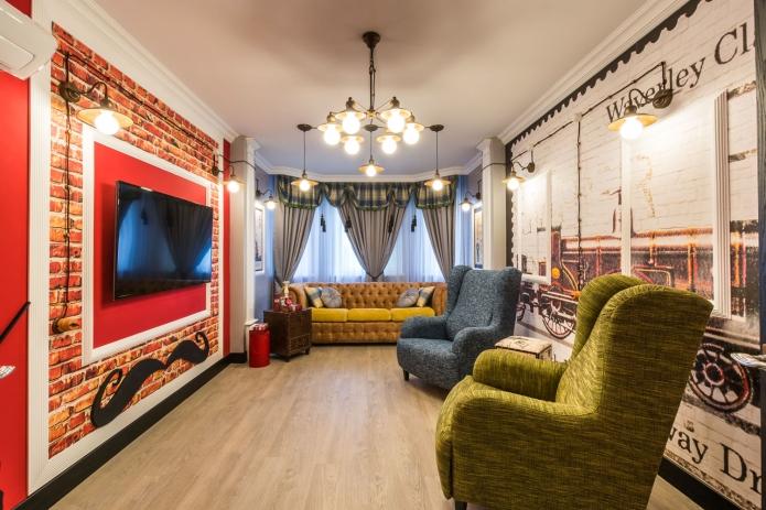 17 sq mts English street  living room interior design (6)