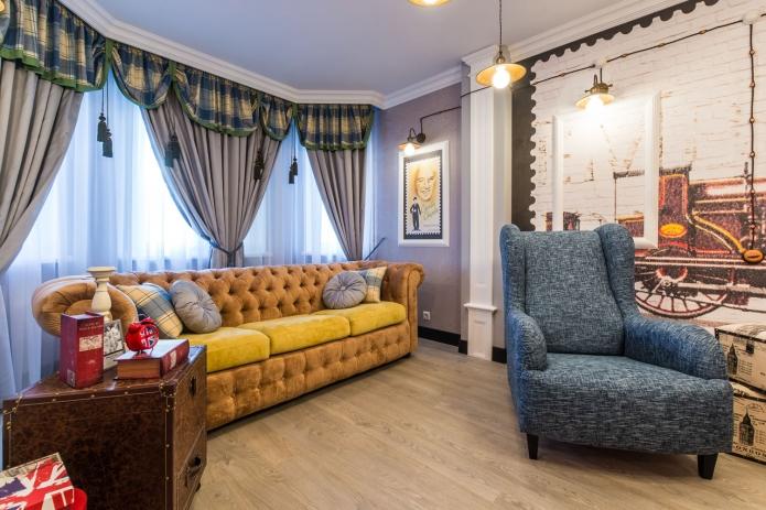 17 sq mts English street  living room interior design (8)