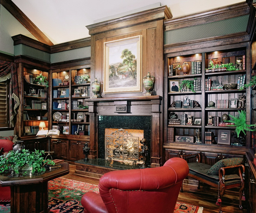 30-classic-library-home-design-ideas (19)