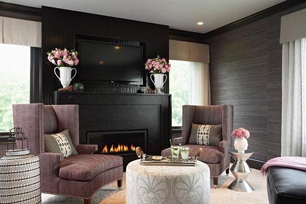 41 Sensational interiors showcasing black painted walls (18)