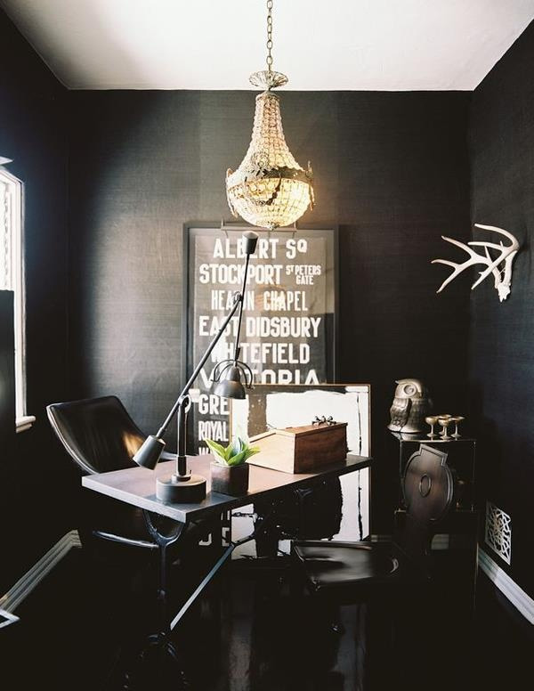 41 Sensational interiors showcasing black painted walls (25)