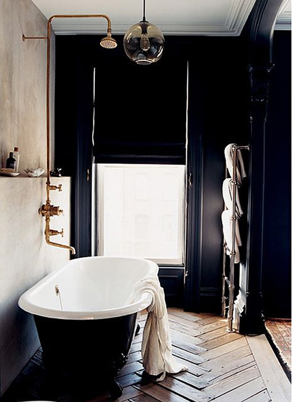 41 Sensational interiors showcasing black painted walls (27)