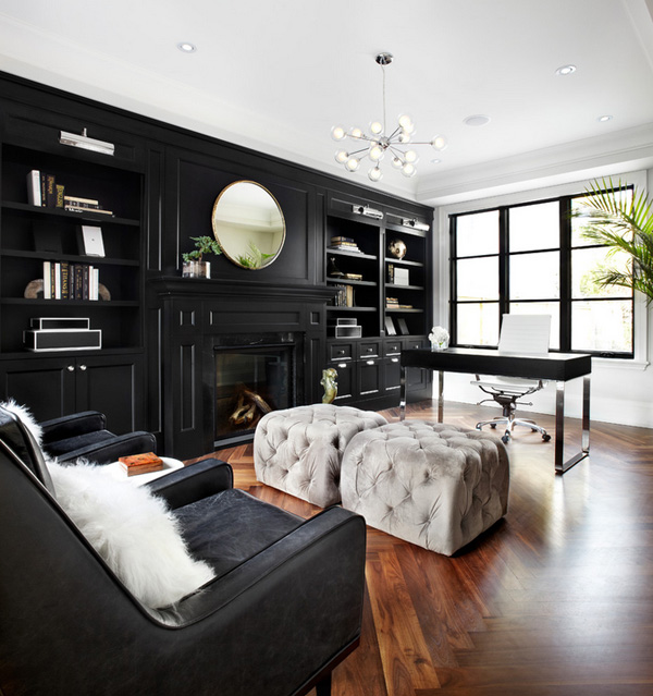 41 Sensational interiors showcasing black painted walls (28)