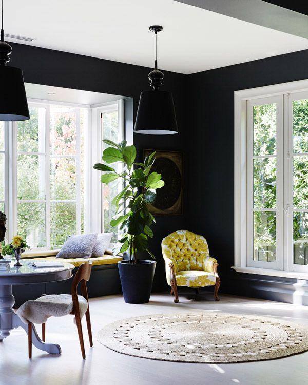 41 Sensational interiors showcasing black painted walls (29)