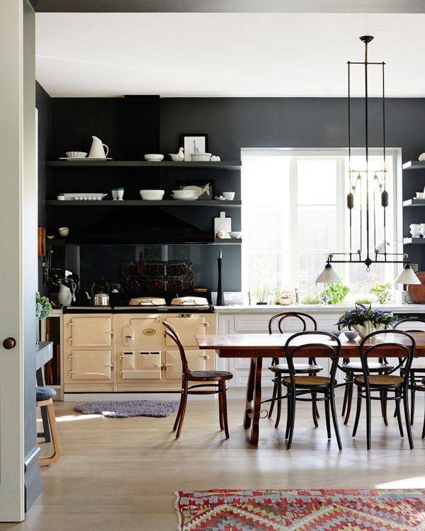 41 Sensational interiors showcasing black painted walls (33)