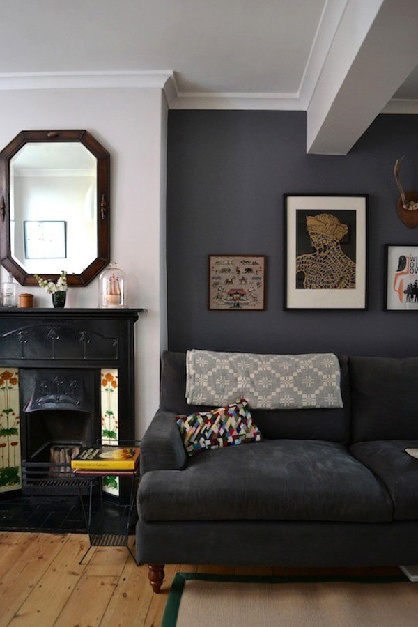 41 Sensational interiors showcasing black painted walls (34)