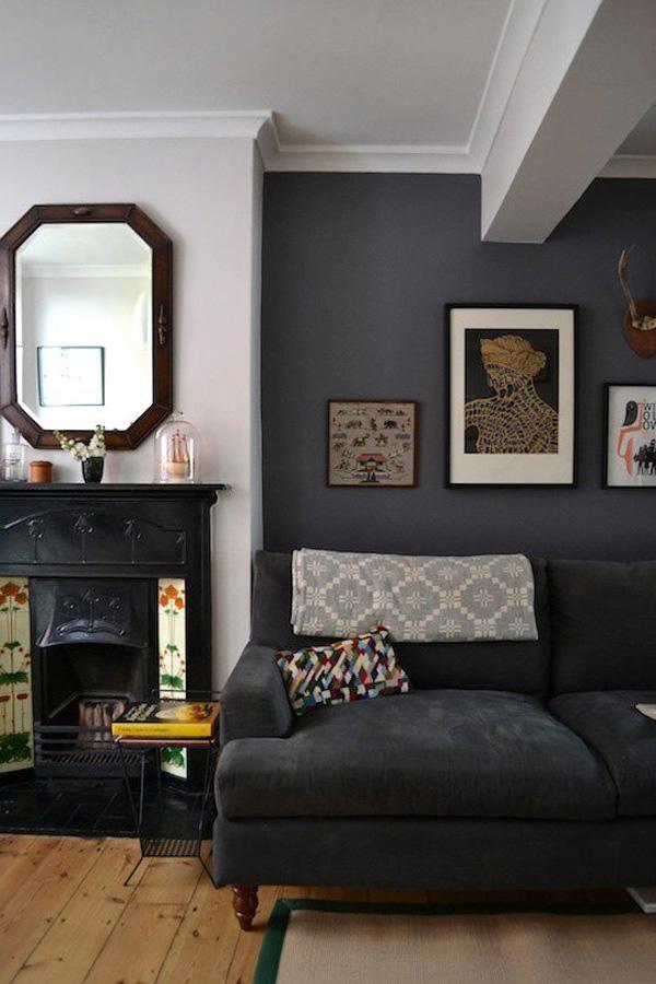 41 Sensational interiors showcasing black painted walls (34)