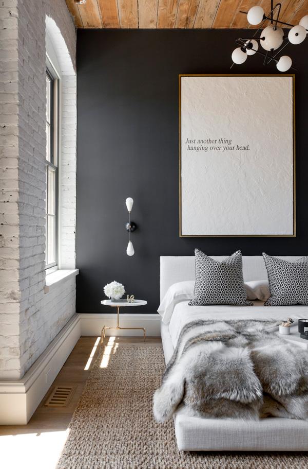 41 Sensational interiors showcasing black painted walls (39)
