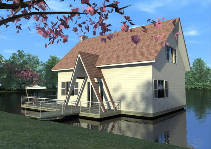 7 modern floating house plans (10)