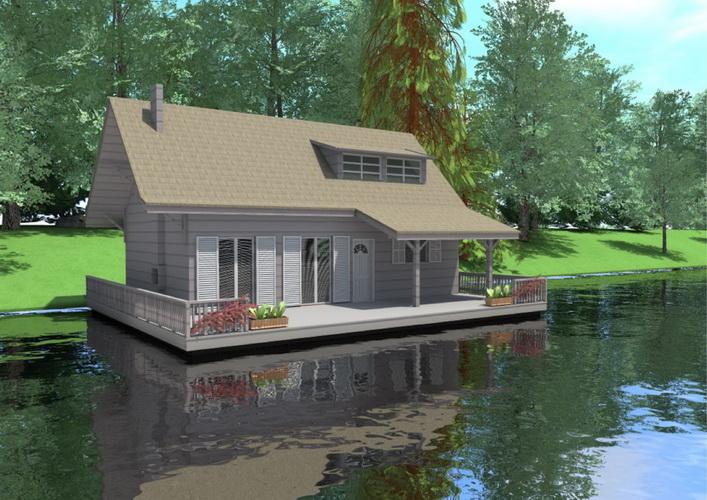 7 modern floating house plans (13)