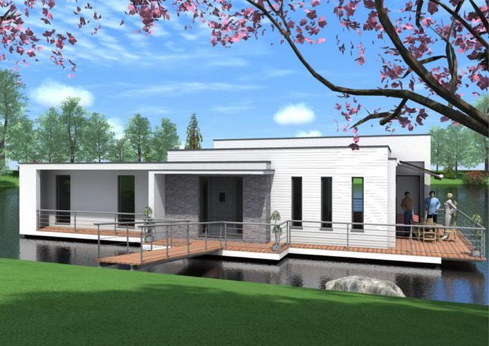 7 modern floating house plans (16)