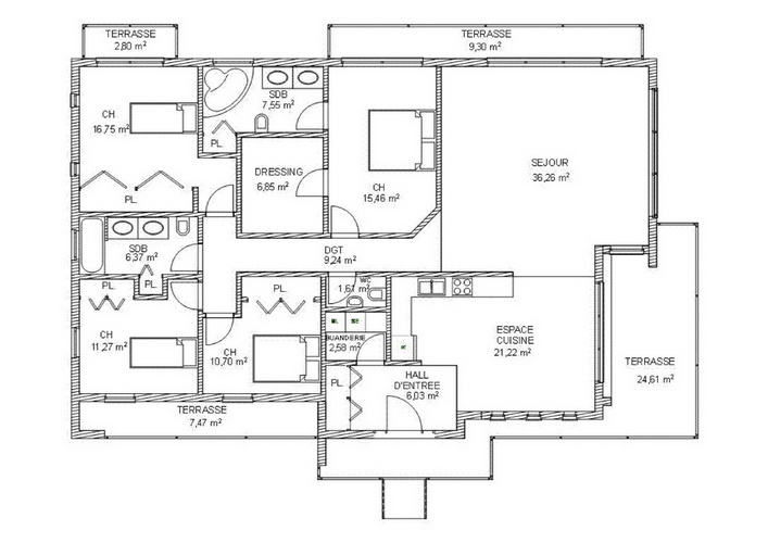 7 modern floating house plans (18)