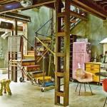 ไอเดียตกแต่งภายในแนว 'อินดัสเทรียล วินเทจ' ผสมผสานความสดใส ในบรรยากาศแบบโรงงานอุตสาหกรรม