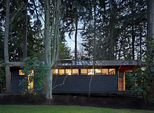 Yoga studio in woods (2)