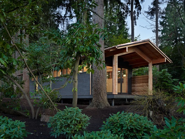 Yoga studio in woods (3)