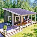 แบบบ้านกระท่อมไม้ขนาดเล็ก ดีไซน์แบบลอฟท์ที่ภายใน รองรับการใช้ชีวิตที่ครบครัน