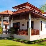 บ้านพักตากอากาศ ขนาด 3 ห้องนอน 2 ห้องน้ำ ตกแต่งด้วยศิลปะแบบไทยร่วมสมัย