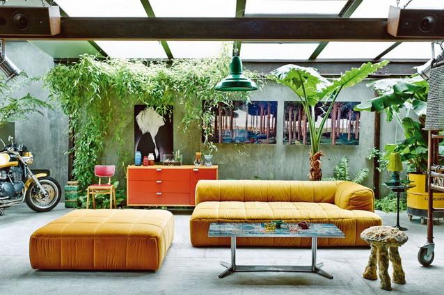 industrial vintage house interior design (1)