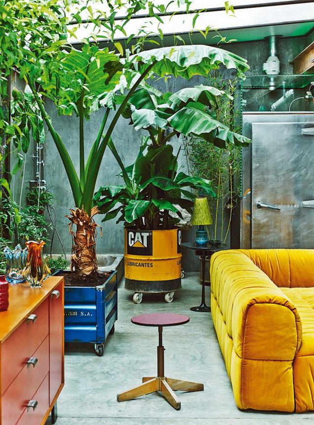 industrial vintage house interior design (2)