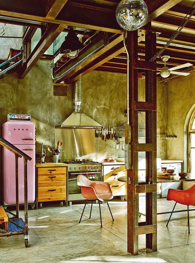 industrial vintage house interior design (3)