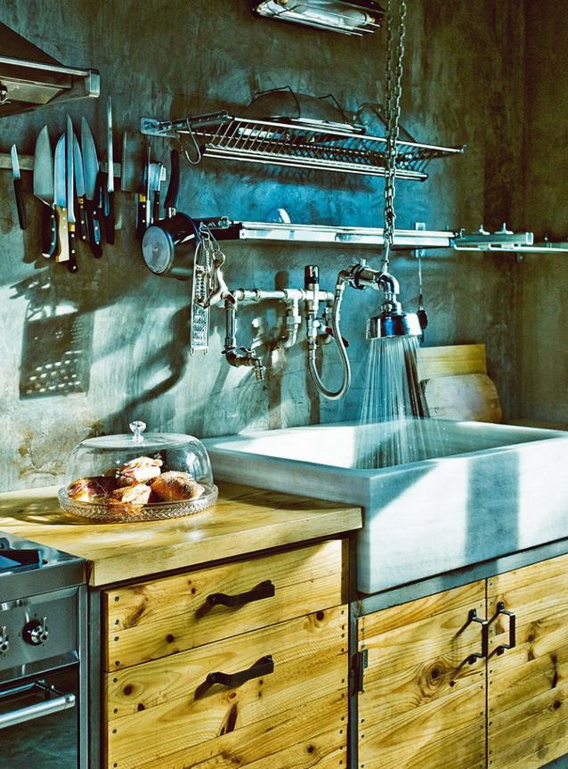industrial vintage house interior design (4)