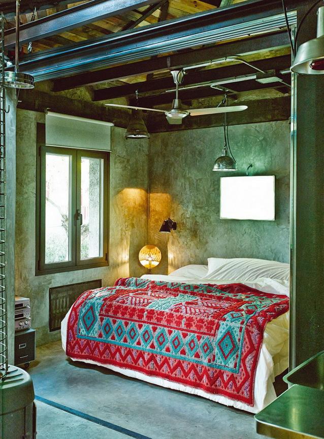 industrial vintage house interior design (6)