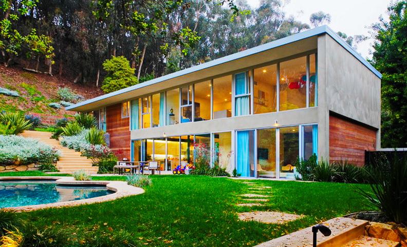 relaxing  modern concrete villa residence (1)