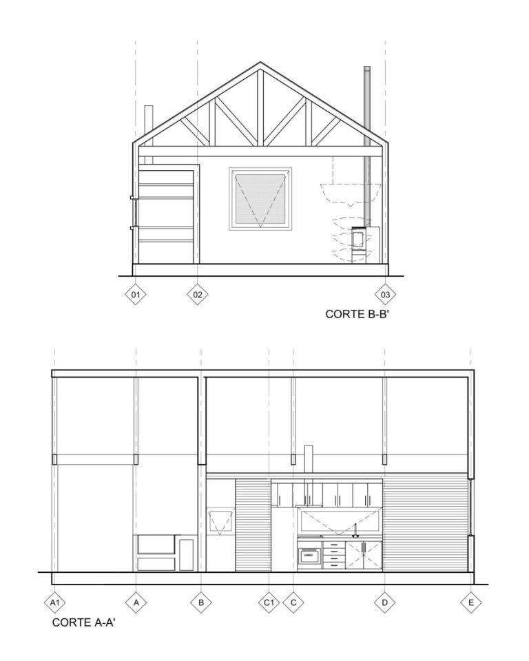 villa cabin modernised house (9)