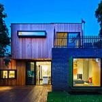 บ้านไม้สไตล์โมเดิร์น ออกแบบรูปทรงทันสมัย ด้วยวัสดุแบบธรรมชาติ