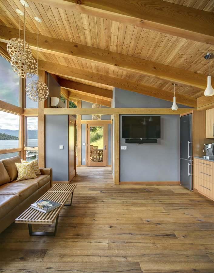 2 storey blue wooden villa (1)