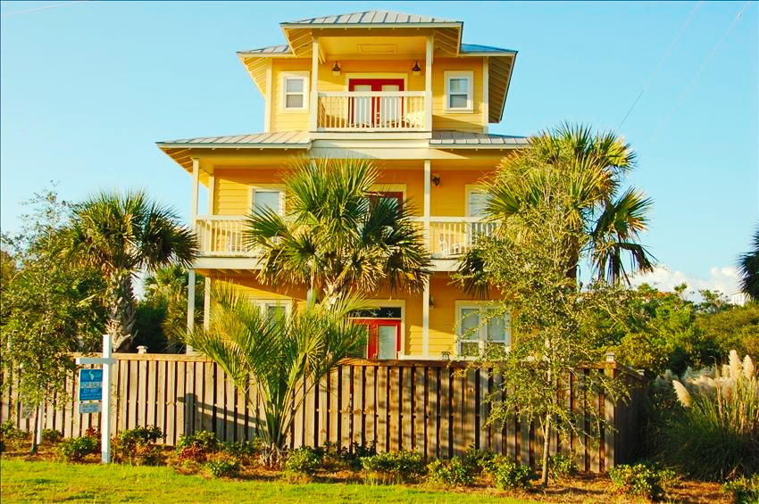 3 floor tower yellow seaside cottage (1)